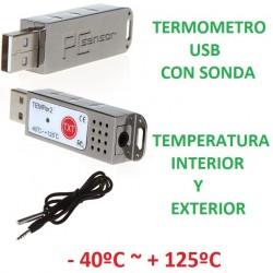 TERMOMETRO USB TEMPER2 INTERIOR Y EXTERIOR