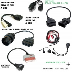 KIT ADAPTADORES OBD COCHE FURGONETA DIAGNOSIS OBD2