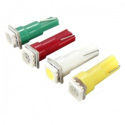 BOMBILLA T5 1 SMD LED COLORES