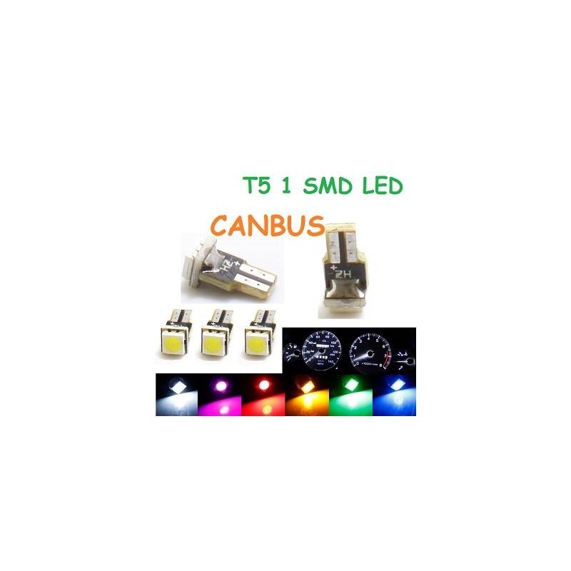 BOMBILLA T5 1 SMD LED CANBUS