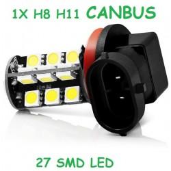 BOMBILLA H11 9005 LED 27 SMD LED CANBUS. NO DA ERROR