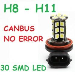 BOMBILLA H11 LED 30 SMD LED CANBUS. NO DA ERROR