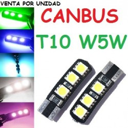 BOMBILLA T10 6 SMD LED W5W CANBUS