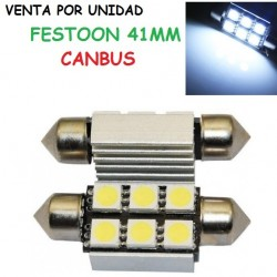 BOMBILLA LED FESTOON C10W 41MM 5050 SMD BLANCO FRIO