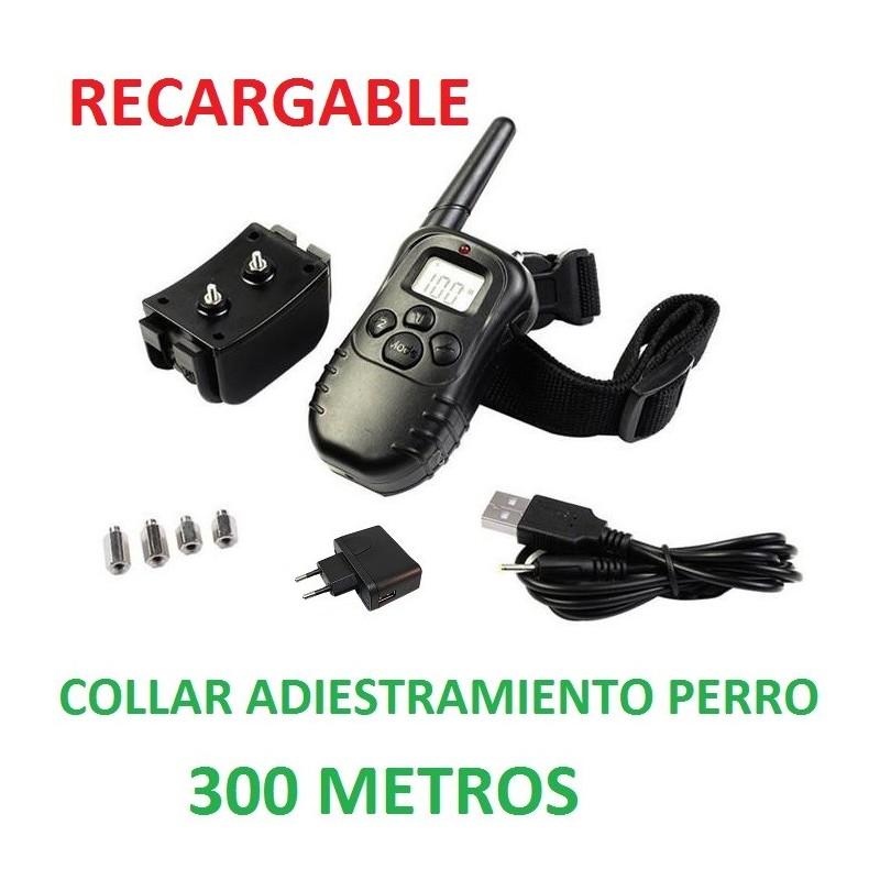 COLLAR ADIESTRAMIENTO RECARGABLE 300 METROS
