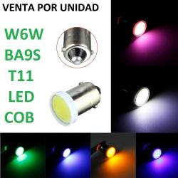 BOMBILLA LED H6W T11 BA9S W6W LED COB