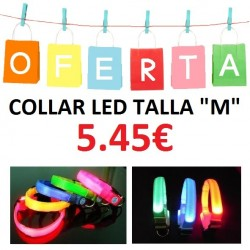COLLAR LED TALLA M
