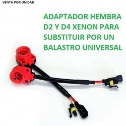 ADAPTADOR CONECTOR BASE BOMBILLA D2S D2R D2C D4S XENON HEMBRA UNIVERSAL