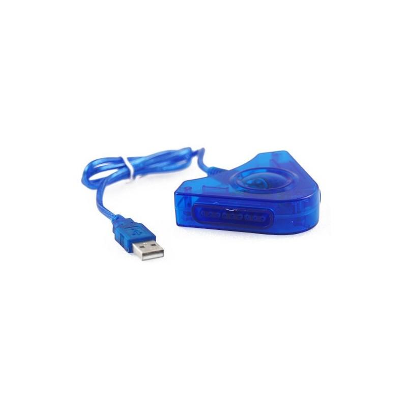 ADAPTADOR USB PARA 2 MANDOS DE PLAY STATION 1 Y 2. PS1, PS2.
