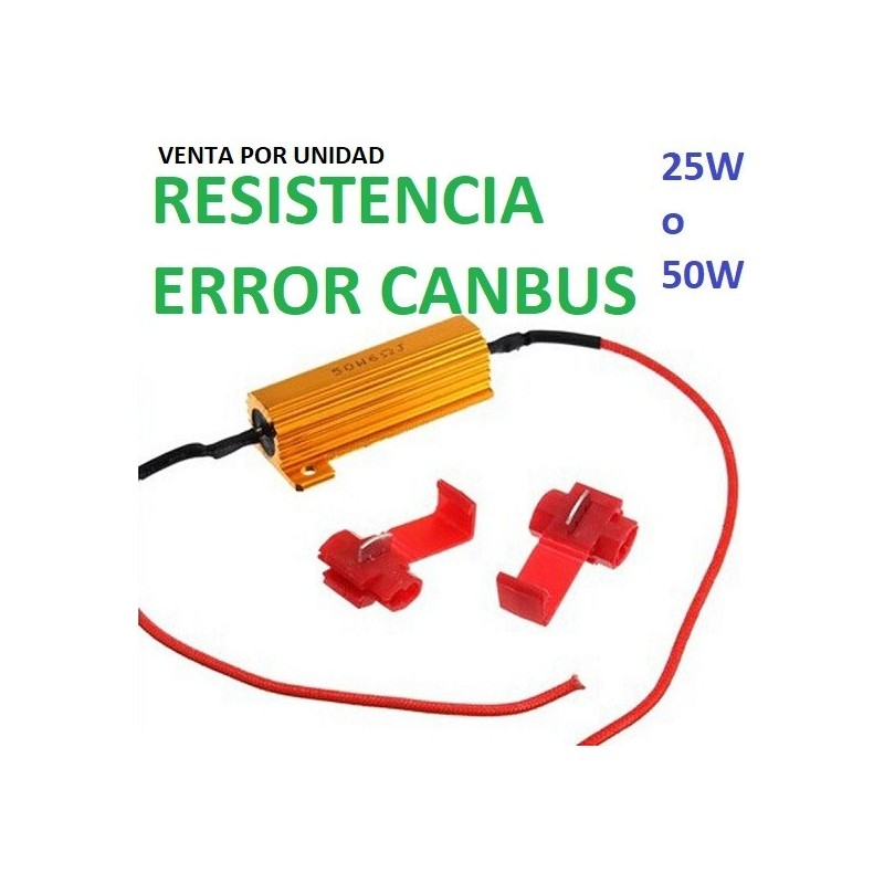 RESISTENCIA ERROR LED CANBUS 25W O 50W 6 oHm COCHE MOTO FURGONETA
