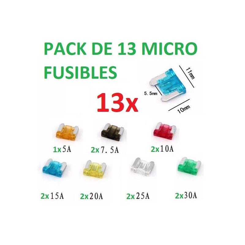 13x MICRO FUSIBLES COCHE FURGONETA TIPO CUCHILLA