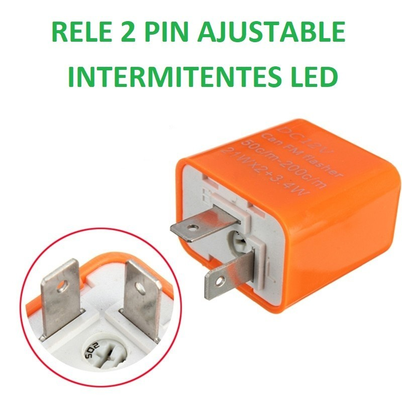 RELE UNIVERSAL PARA INTERMITENTES LED 2 PIN MOTO