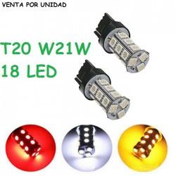 BOMBILLA T20 18 SMD LED W21W