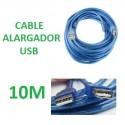 CABLE ALARGADOR USB 10 METROS MACHO - HEMBRA 480 Mbps.