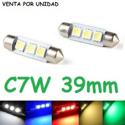 BOMBILLA FESTOON C7W 3 SMD LED 5050 39 MM