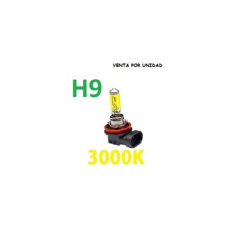 BOMBILLA HALOGENA H9 LUZ AMARILLA 3000K