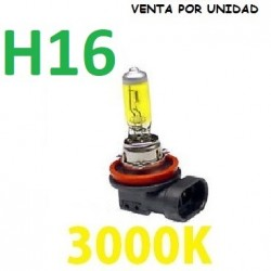 BOMBILLA HALOGENA H16 LUZ AMARILLA 3000K