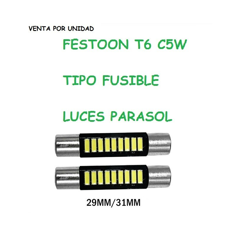 BOMBILLA LED T6 TIPO FUSIBLE FESTOON C5W INTERIOR