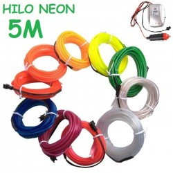 NEON 5M FLEXIBLE MECHERO COCHE PARPADEO MUSICA