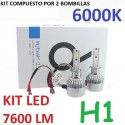 KIT BOMBILLAS H1 LED 7600 LUMENES 12/24V COCHE FURGONETA