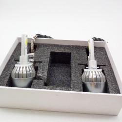 KIT BOMBILLAS H3 LED 7600 LUMENES 12/24V COCHE FURGONETA CAMION
