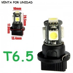 BOMBILLA 5 SMD LED T6.5 LUZ CUADRO INSTRUMENTOS