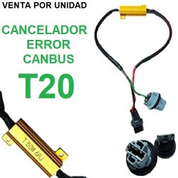 CANCELADOR CANBUS T20 W21W 7440 LED RESISTENCIA