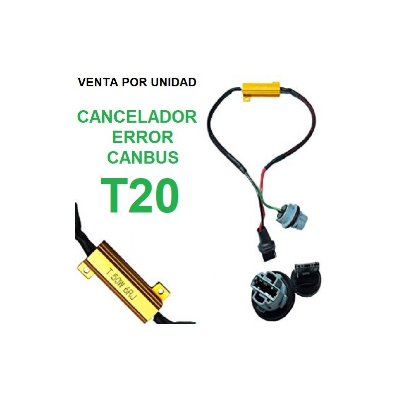 CANCELADOR CANBUS T20 W21W 7440 LED RESISTENCIA