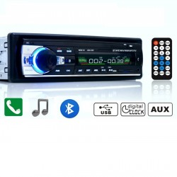 RADIO BLUETOOTH MP3 1 DIN MANOS LIBRES USB SD COCHE