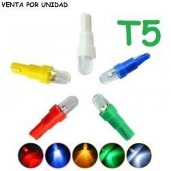 BOMBILLA LED T5 1 LED LUZ CUADRO INSTRUMENTOS W3W W1.2W W2.3W