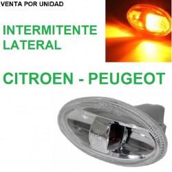 LUZ INTERMITENTE LATERAL REPUESTO CITROEN Y PEUGEOT CROMADO