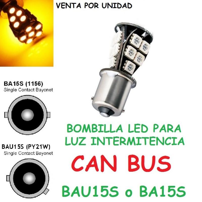 BOMBILLA LED CANBUS AMBAR PARA INTERMITENTES 21 SMD 5050