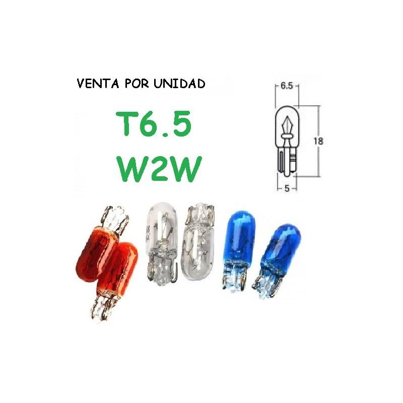 BOMBILLA T6.5 W2W 12V 1.7W LUZ MARCADOR INTERIOR HALOGENA