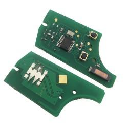 Llave Circuito Mando y Chip Transponder Opel 2 Botones Ref. E