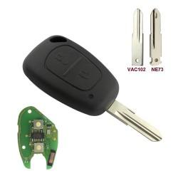Llave Circuito Mando y Chip Transponder Opel Nissan Renault Dacia Ref. I