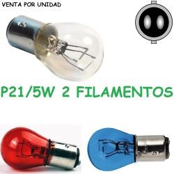 Bombilla P21/5W S25 BAY15d 1157 Luz de Posición y Freno Halógena