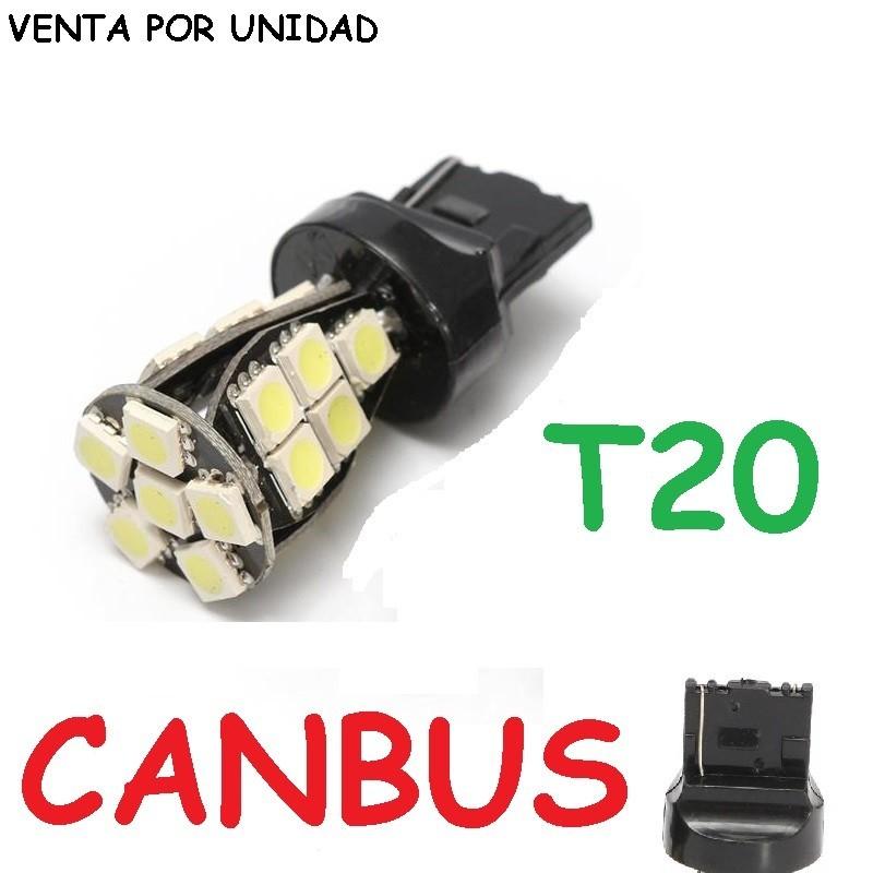 Bombilla Led Canbus T20 W21/5W 7443 7440 580 W21W Luz Posición y Freno