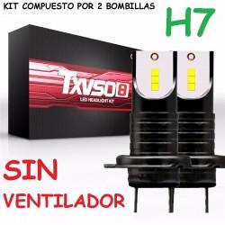 Kit H7 Led 26000 Lúmenes Sin Ventilador Luz Blanca Coche Camión Moto