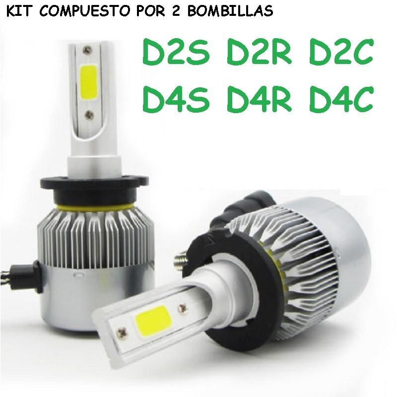 Kit Bombillas D4S D2S Led 20000 Lúmenes 12/24V Coche Camión Furgoneta