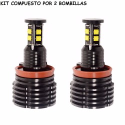 Kit 2 Bombillas Led Luz Anti Niebla o Ojos de Angel BMW H8 H9 H11