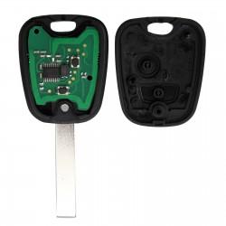 Llave Circuito Mando y Chip Transponder Citroen Peugeot 2 Botones Ref. L