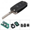 Llave Circuito Mando y Chip Transponder Skoda Seat VW 3 Botones Ref NM