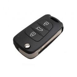 Llave Circuito Mando y Chip Transponder Kia y Hyundai 3 Botones Ref. U
