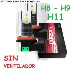 Kit H11 H8 H9 Led 26000 Lúmenes Sin Ventilador Luz Blanca Coche Camión