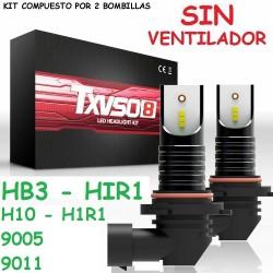 Kit HB3 HIR1 H10 9005 9011 Led 26000 Lúmenes Sin Ventilador Luz Blanca
