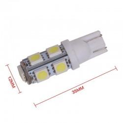 Bombilla 9 Led W3W W5W T10 Luz Posición Matrícula Cortesía Coche Moto