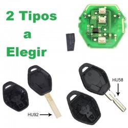 Llave Circuito Mando y Chip Transponder BMW y Mini 3 Botones Ref. J