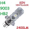 Bombilla H4 9003 Led 2400 Lúmenes Sin Ventilador Luz Blanca Coche Moto