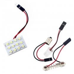 Plafón de LED 1210 Luz Cortesía Techo Matrícula Maletero Interior Coche