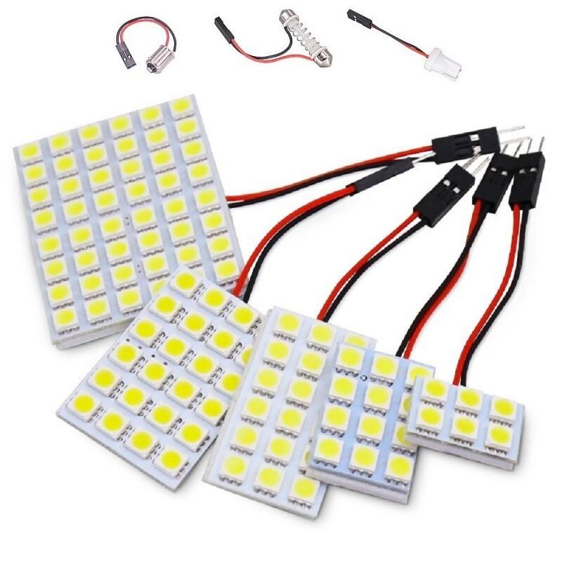 Plafón de LED 5050 Luz Cortesía Techo Matrícula Maletero Interior Coche